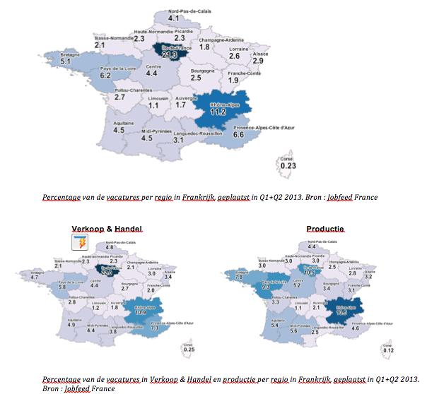 Percentage-van-de-vacatures-per-regio-in-Frankrijk