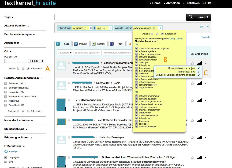 Semantische Suchtechnologie für Recruiting von Textkernel