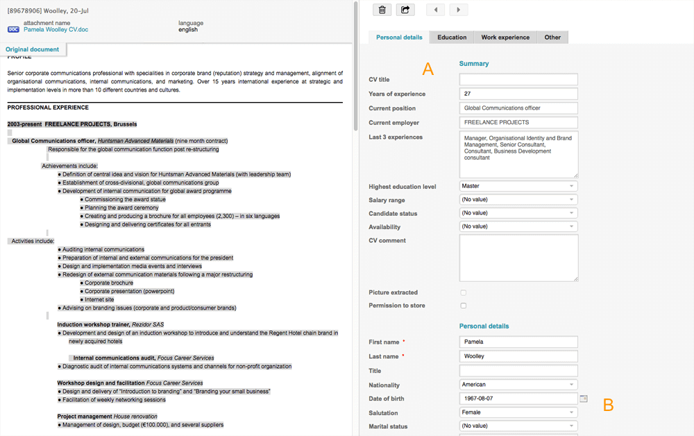 resume in russian language