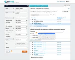 Instellen van email alerts voor vacatures in Jobfeed