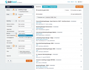 De Jobfeed portal powered by Textkernel