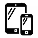 Phone and tablet vector sign