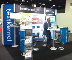 Textkernel's stand by Expo Display Service at Zukunft Personal