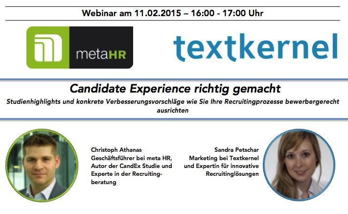 Webinar: Candidate Experience richtig gemacht - Textkernel und Meta HR