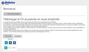 Téléchargement de CV et candidature simplifieé