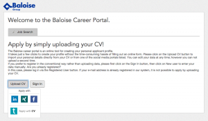 Baloise - Upload CV and easily apply