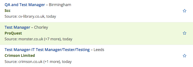 Clearer results in Jobfeed