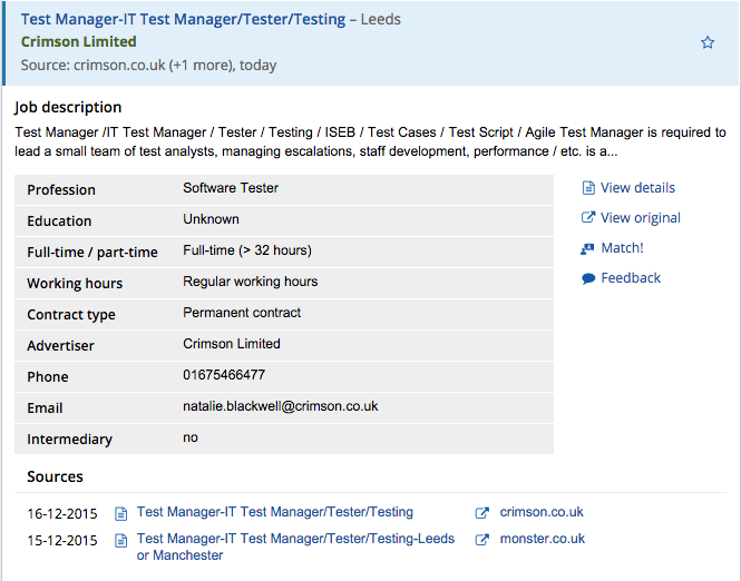 Improved job details in Jobfeed