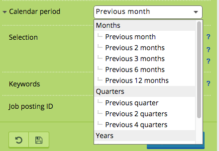 calendar period - jobfeed