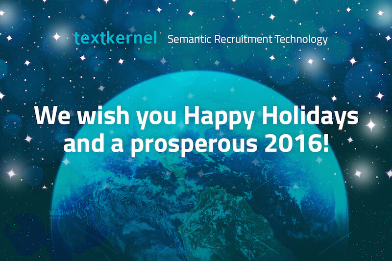 Textkernel wishes everyone happy holidays and a prosperous 2016