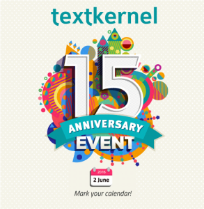 Textkernel will celebrate its 15th anniversary with a special event
