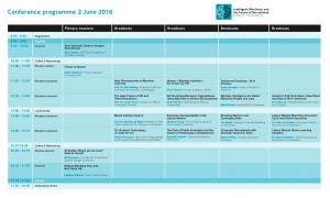 Conference Programme Intelligent Machines and the Future of Recruitment - 2 June
