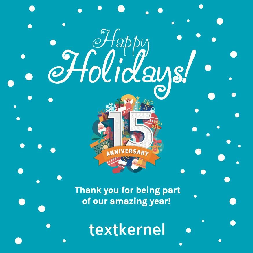 Textkernel wishes everyone happy holidays and a great 2017